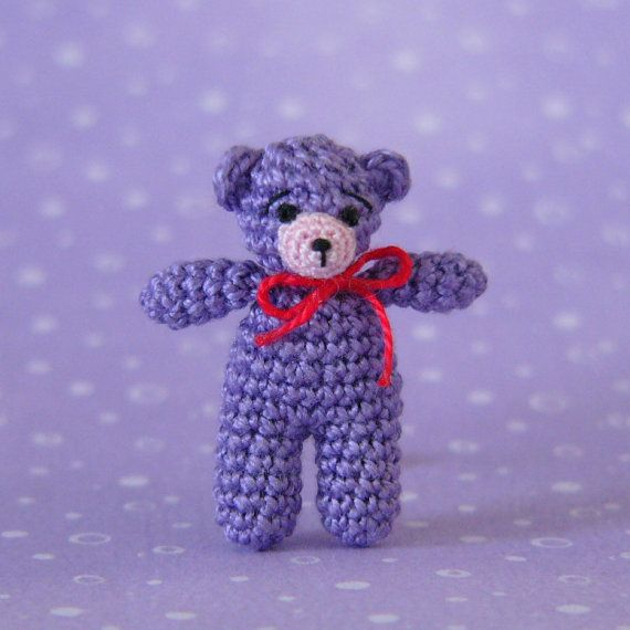 *** This is a PDF CROCHET PATTERN and NOT the finished item ***  This is an original crochet pattern to make a miniature Matchbox Bear. The bear made with this pattern is small enough (26 mm tall - 1.02) to hide in your pocket and take it anywhere.  The pattern is written in english (US terms) and is suitable for beginner/intermediate crocheters. The instructions are detailed and easy to follow if you know the basic stitches and techniques used to make amigurumi (work single crochet in a…