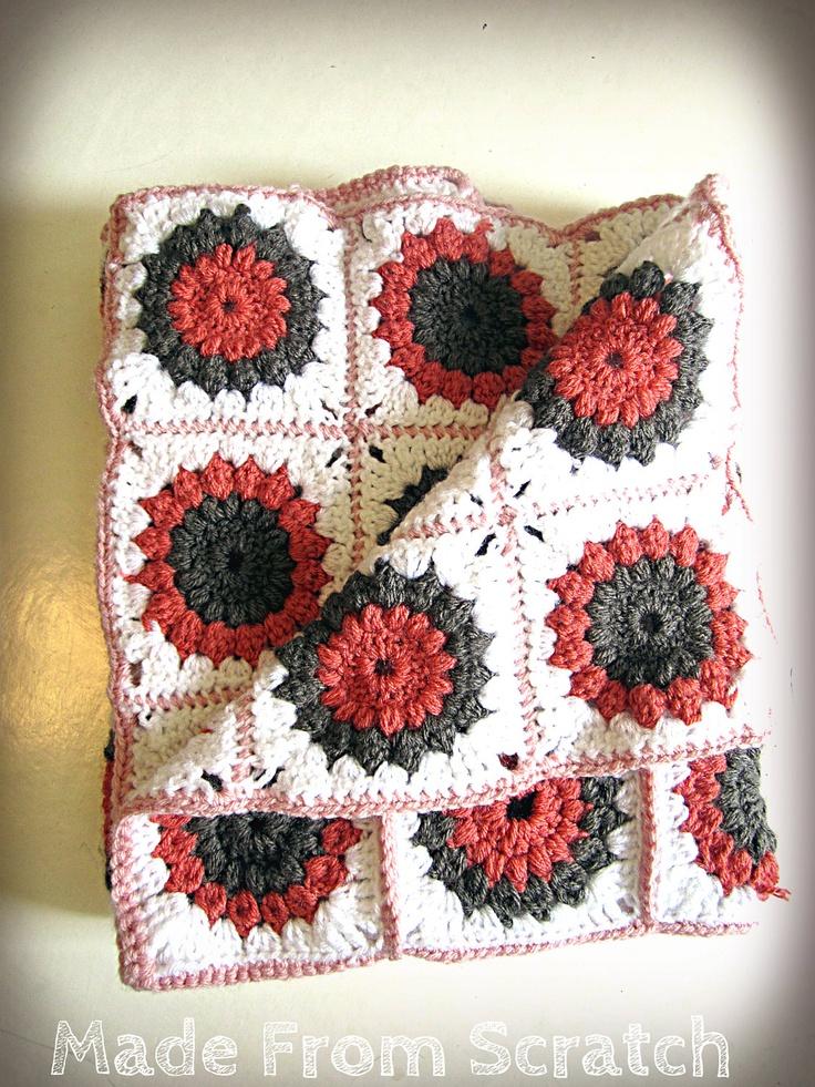 Starburst Flower Crochet Blanket Pattern : 17 b?sta bilder om Crochet ~ Sunburst Flower & Blanket p? ...