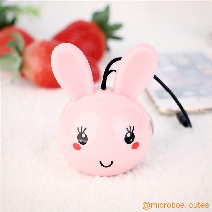 Portable Mini Speaker in Rabbit Design; Built-in rechargeable Li-ion battery (180mAh); Output Power: 2W (RMS, THD=10%); Speaker Unit: 36mm  4Ω; Frequency: 100Hz-20KHz; S/N Ratio: ≥80db; Dimensions: Dia50×H70mm