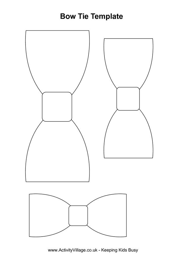 Bow Tie Cut Out Pattern | Bow tie template index of