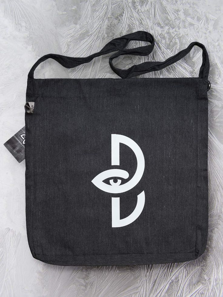 Sling tote bag with logo by Paranoia Borealis.