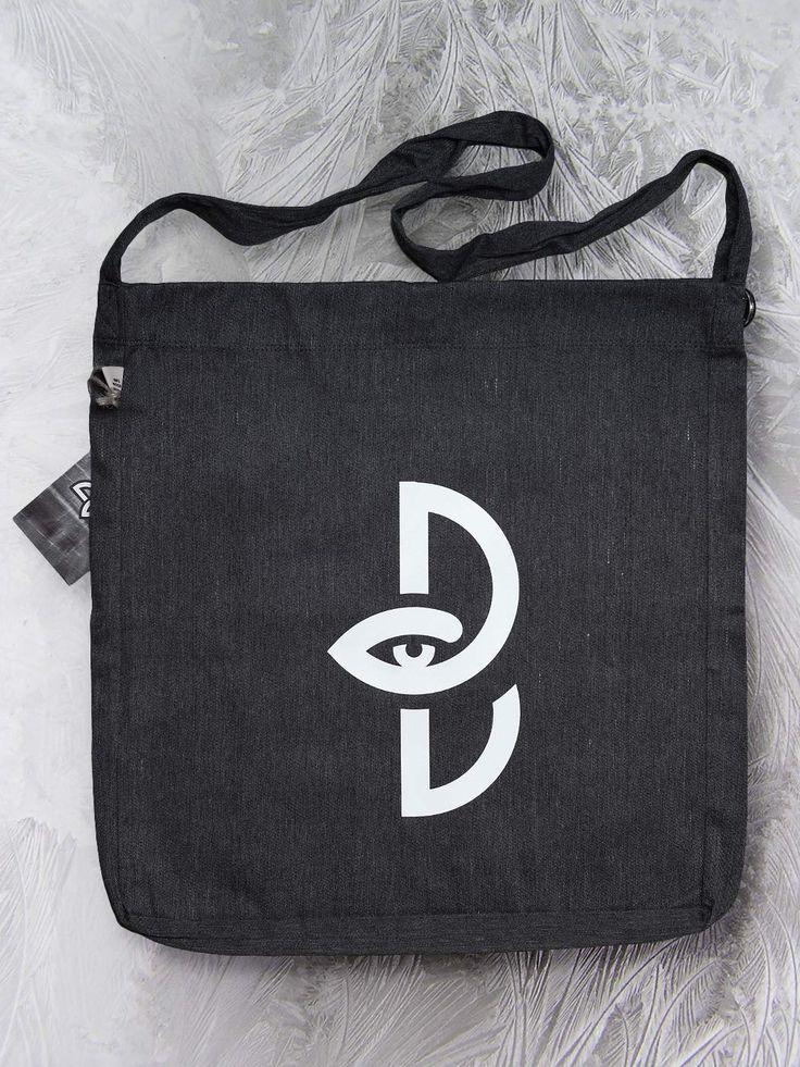 Sling tote bag with logo by Paranoia Borealis.