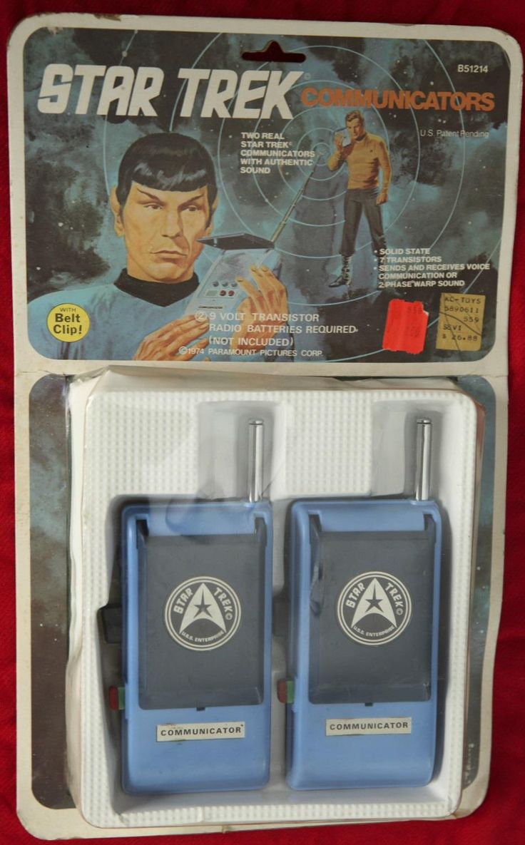 1974 Star Trek Communicators walkie talkies by Mego