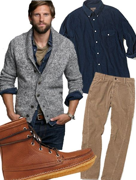Wear a Shawl Collar Cardigan without Looking Like Grandpa