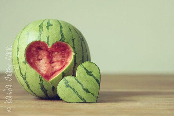 Fun Food kids obst fruits watermelon wassermelone carving heart herz schnitzen einfach easy fast schnell