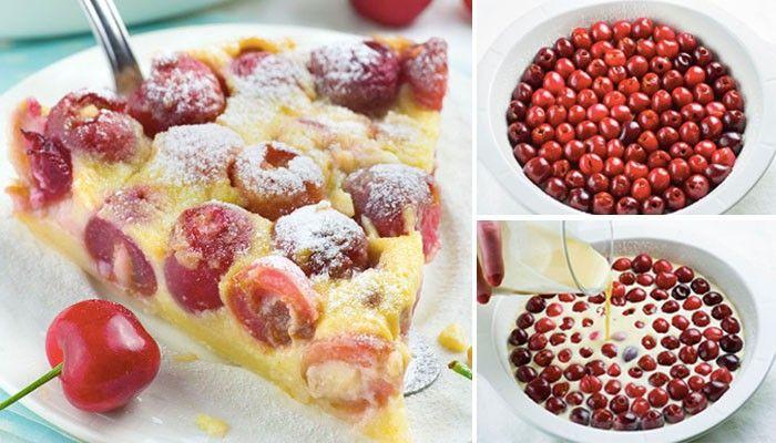 Lehký, krémový a zcela jednoduchý ovocný koláček. Použít můžete různé sezónní ovoce - jahody, třešně, ....