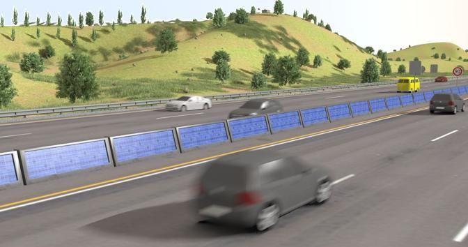 Pannelli fotovoltaici sulle autostrade