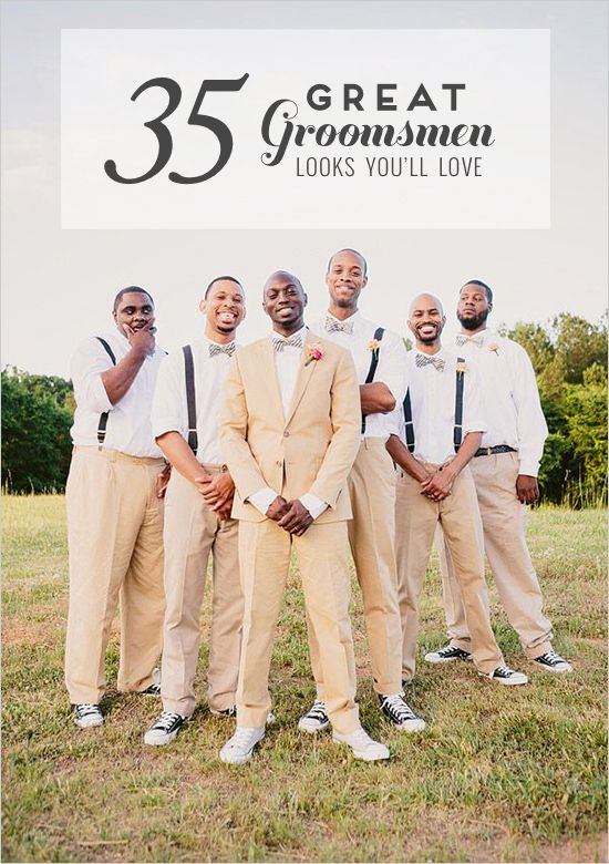 35 Great Groomsmen looks you'll love and be swooning over for your handsome groom. Get inspired for your hubs attire here.