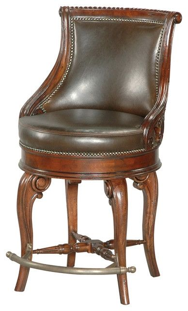 Tatum Swivel Counter Stool Dark Leather Traditional Bar regarding The Most Stylish  leather swivel bar stools with regard to Encourage