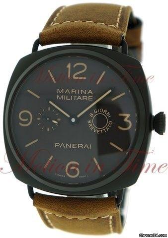 Panerai Radiomir Composite Marine Militare 8 Giorni, Dark Brown Dial, Limited Edition to 1500 Pieces - Black Aluminium on Strap Price On Request