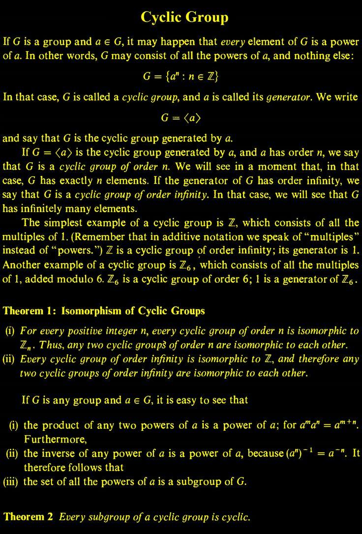 Cyclic Group