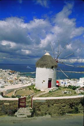 Greece    Thatched Windmill