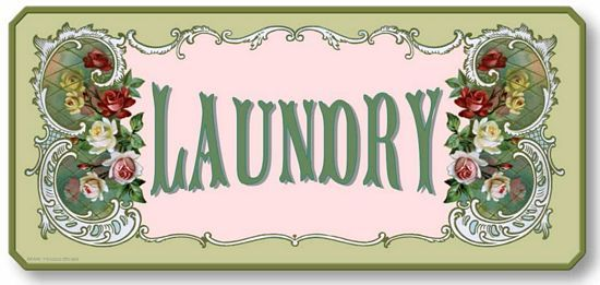 Item 05008 Victorian Style Laundry Plaque Sign