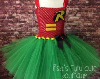 Tutu de Robin traje de Robin vestido de Robin por LisasTutus