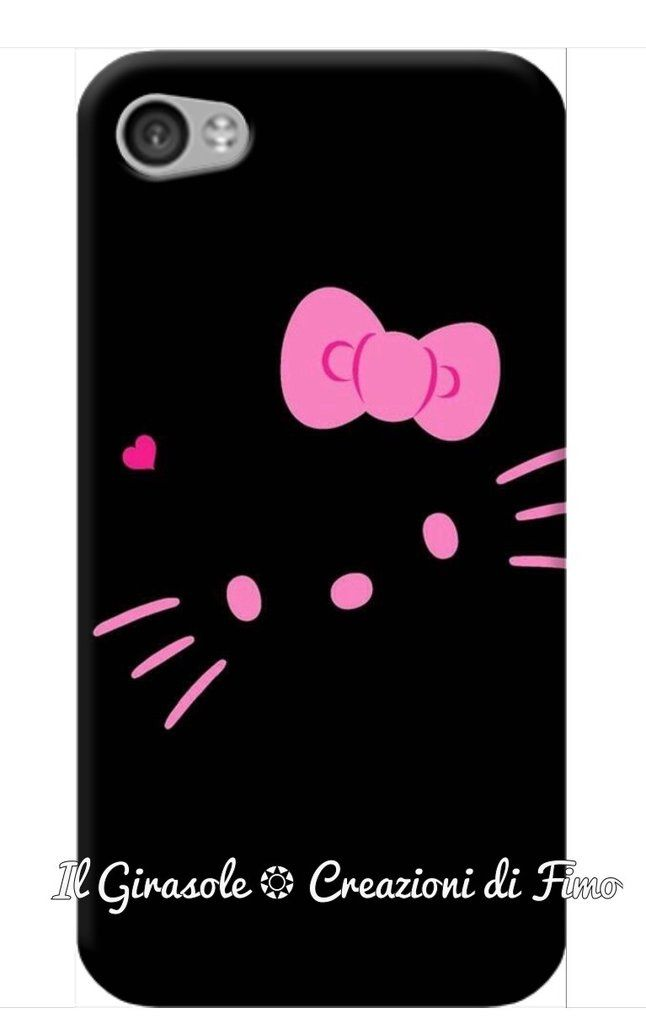 Cover per cellulare di Hello Kitty fatta a mano, by Il Girasole ❂ Creazioni di Fimo, 12,00€ su misshobby.com