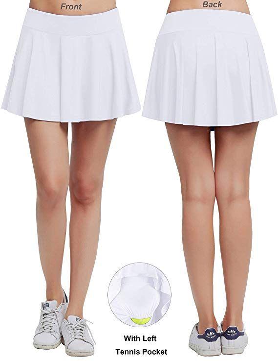 half off 30383 a53c8 HonourTraining Women s Built-in Shorts Skirts Fitness Pleated Skirts Active Running  Tennis Golf Lightweight Skorts