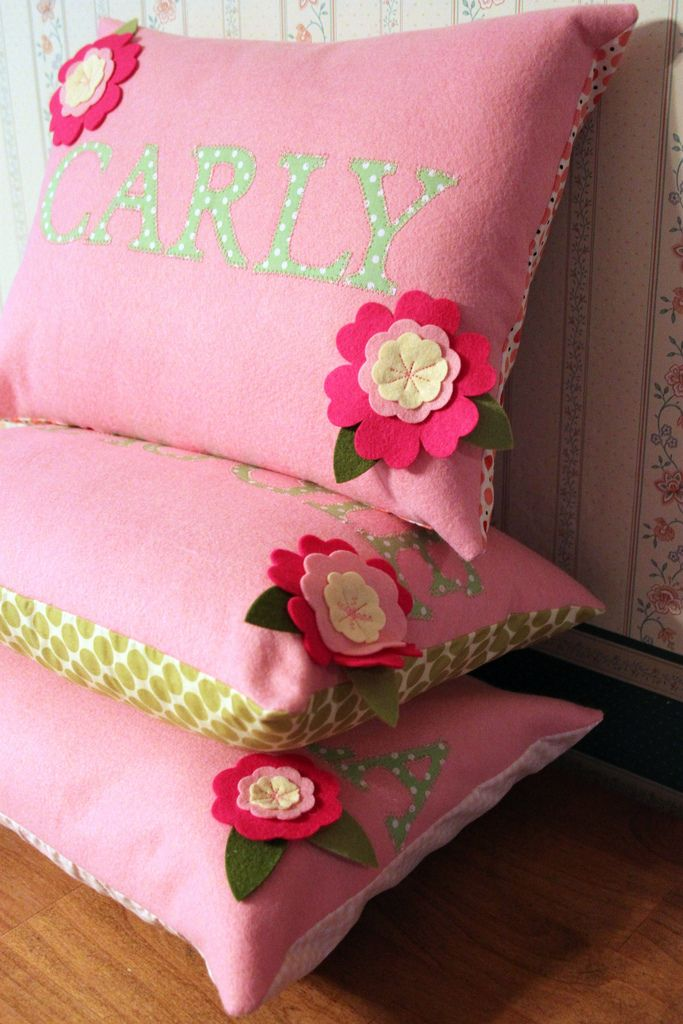 Pink Personalized Pillows