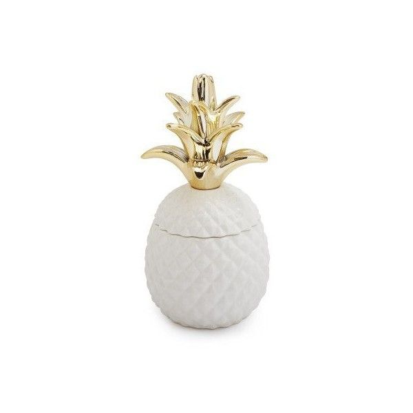 Ceramic Pineapple Coconut Soy Candle ($19) ❤ liked on Polyvore featuring home, home decor, candles & candleholders, tropical home decor, sur la table, pineapple candle, scented candles and coconut candles