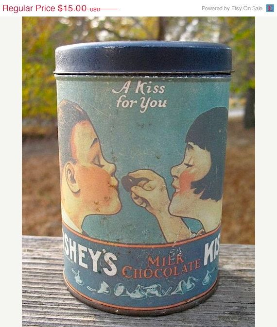 ON SALE Vintage 1980 Herseys Kisses A Kiss For by RadicallyRetro, $12.00