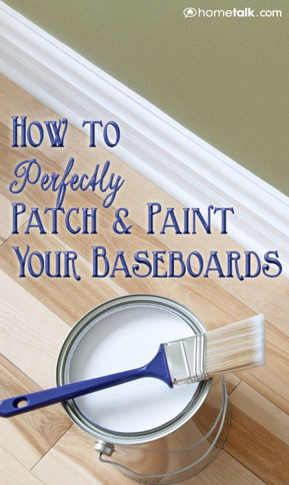 How to Perfectly {Patch  Paint} Your Baseboards!