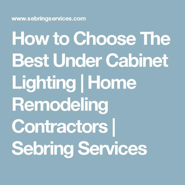 The 25+ best Best under cabinet lighting ideas on Pinterest ...