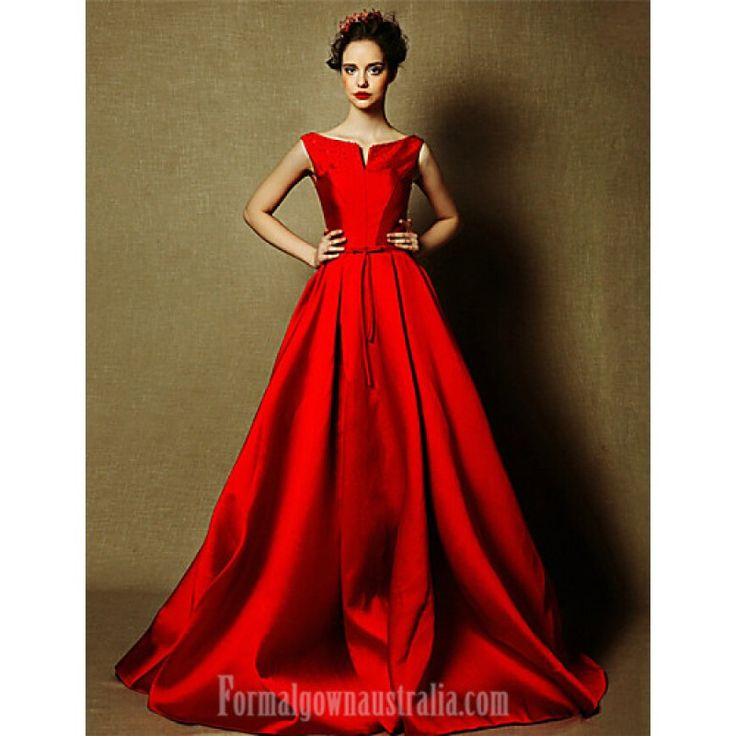 Australia Formal Evening Dress Burgundy Plus Sizes Dresses A-line Bateau Long Floor-length Satin Formal Dress Australia