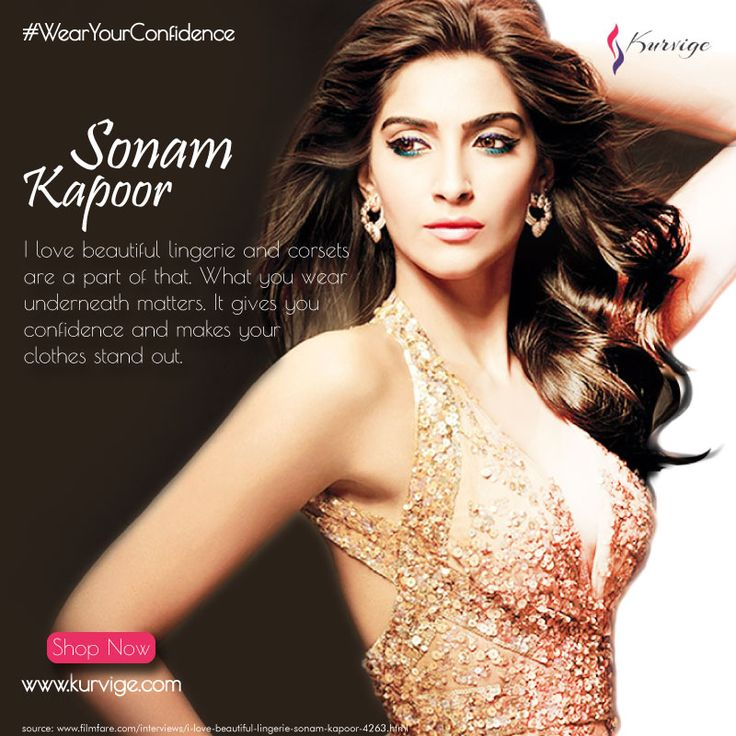 Wear the Confidence that Lingerie gives you. Shop Now at www.kurvige.com  #kurvige #Fashion #Lifestyle #Womenfashion #Beyou #Beconfident #Shop #ShopOnline #WearYourConfidence. #StayTuned to know more of #Celebrity updates. #SonamKapoor