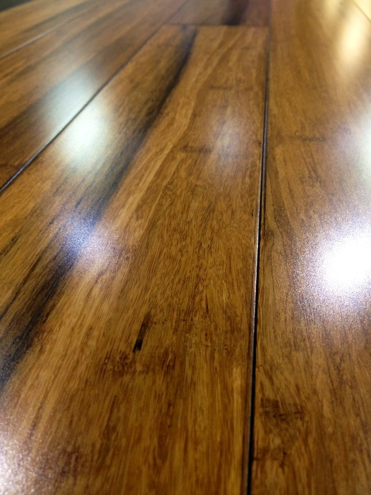 Antique flooring made from eco-friendly strand woven bamboo
