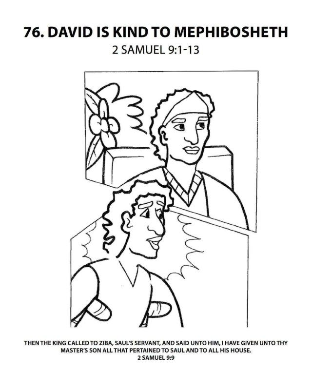 Creative Picture Of David And Jonathan Coloring Page Sunday