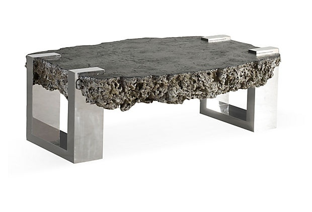 Donnovan Lava Stone Table Gray PHILLIPS COLLECTION Home