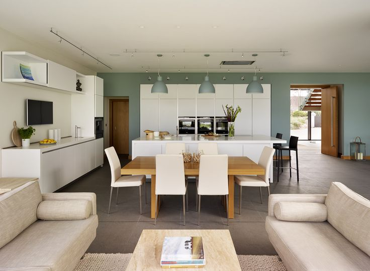 Awesome Contemporary Open Plan Family Kitchen With Reading / Chill Out Area. The  Minimal White Kitchen Part 23