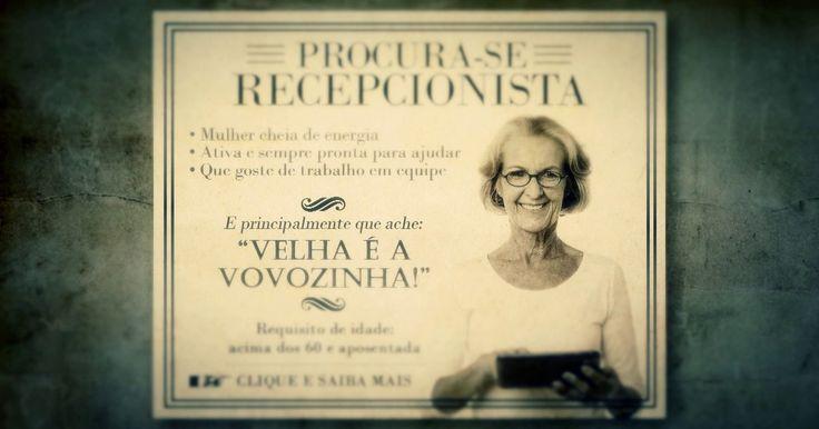 Empresa contrata recepcionista acima dos 60 anos e aposentada em Curitiba