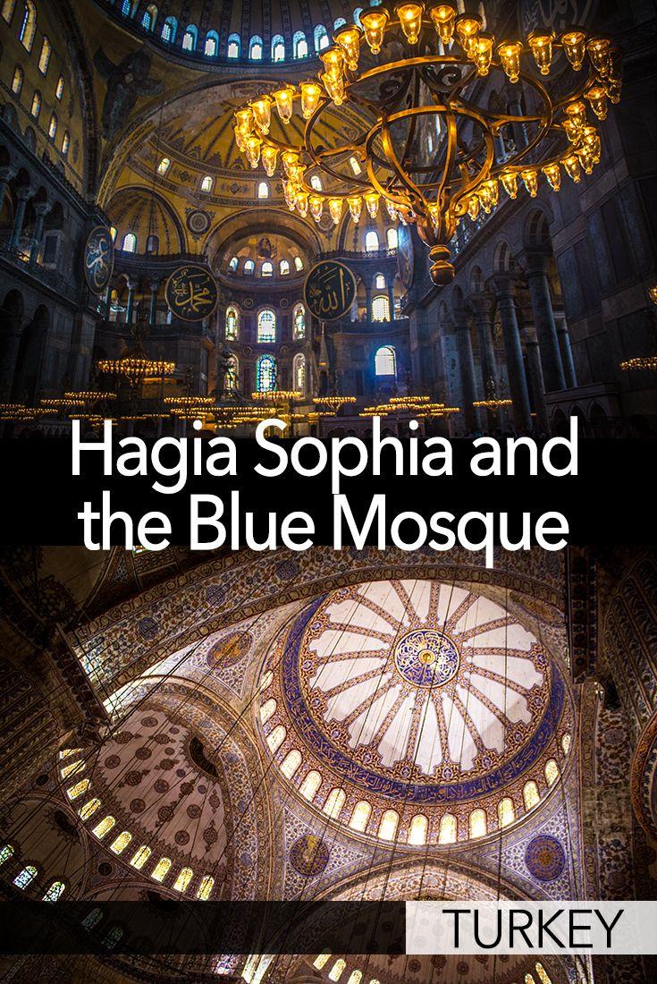 Hagia Sophia and the Blue Mosque, Istanbul, Turkey