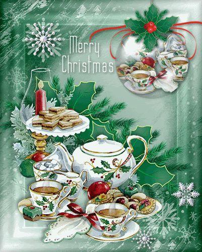 Christmas tea set.