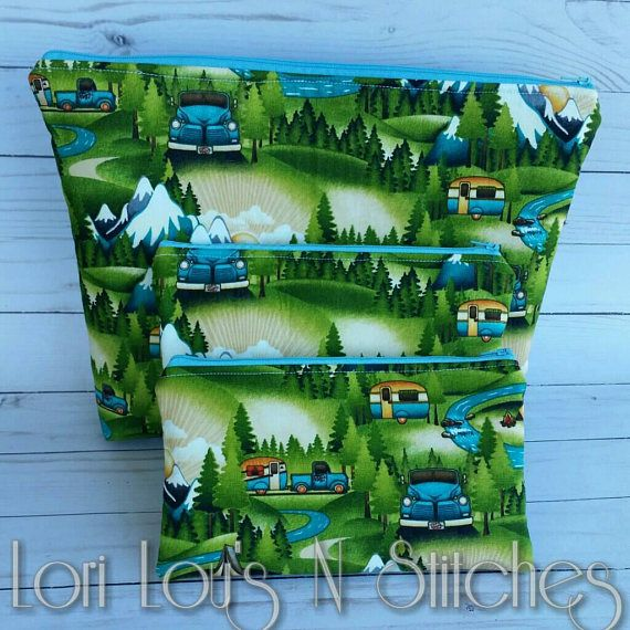 Check out this item in my Etsy shop https://www.etsy.com/listing/552170683/camper-travel-bags-camper-zipper-pouches
