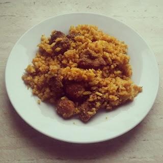 Kurczak z ryżem curry