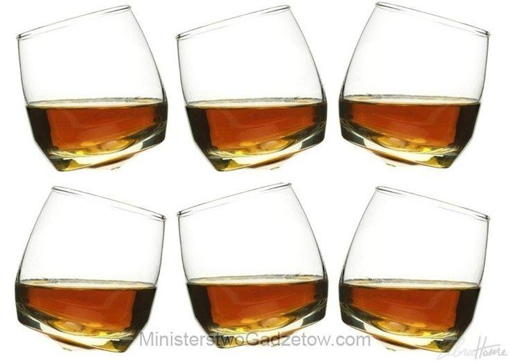 Kiwające się szklanki do whisky