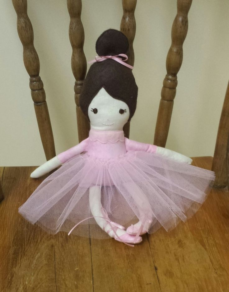 Galina the ballerina is lovingly handmade from quality products. Galina has a detachable tutu and has gorgeous detailing including hand embroidered face and sewn on slippers with ribbon bows.  Galina measures approximately 30cm from toe to head.  Galina is a handmade doll so please be aware of slight irregularities and imperfections which add to her character.
