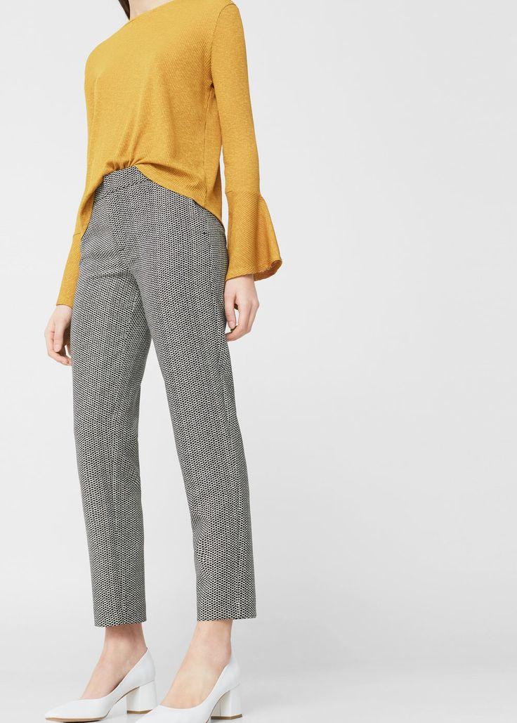 Pantalón recto traje - Pantalones de Mujer | MANGO España