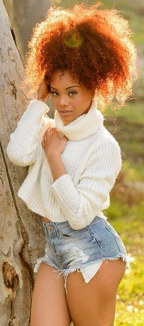 Natural Model Neeandra Black African American