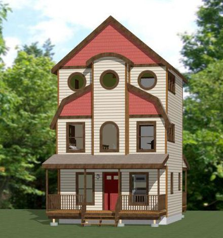 20x20 tiny house 20x20h26 1 079 sq ft excellent for Www house plans com