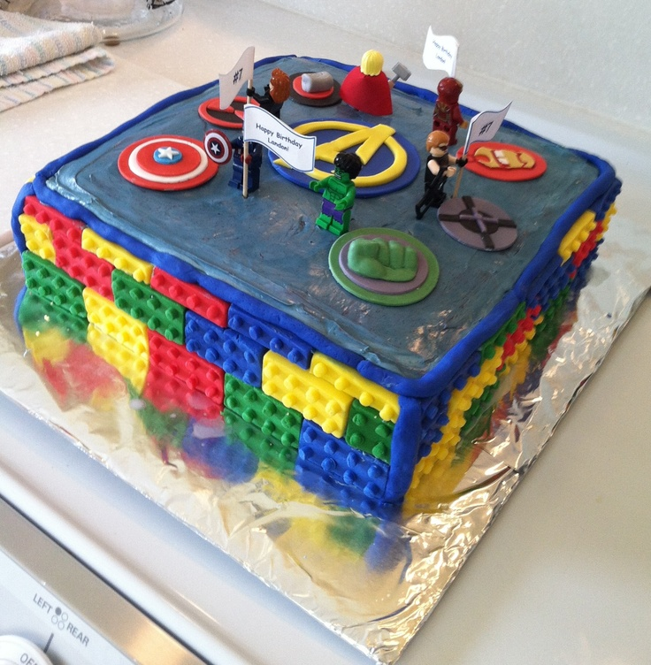 Cake Decorating Ideas Avengers : Lego Avengers cake decorating Pinterest Lego and Avengers