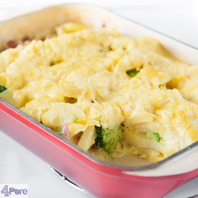 Chicken broccoli casserole - English recipe - a budget friendly, easy to (pre) prepare casserole