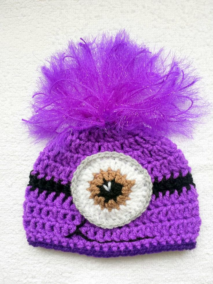 Despicable Me Minion Handmade Crochet hat photo prop gift costume baby shower | eBay