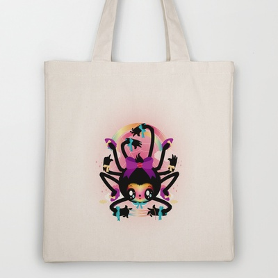 Crafty spider Tote Bag by Meni Tzima - $18.00