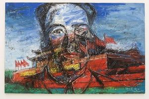 'The Revolution Continues: New Art From China' exhibition at the new Saatchi gallery    Tiananmen 2004 by Zeng Fanzhi