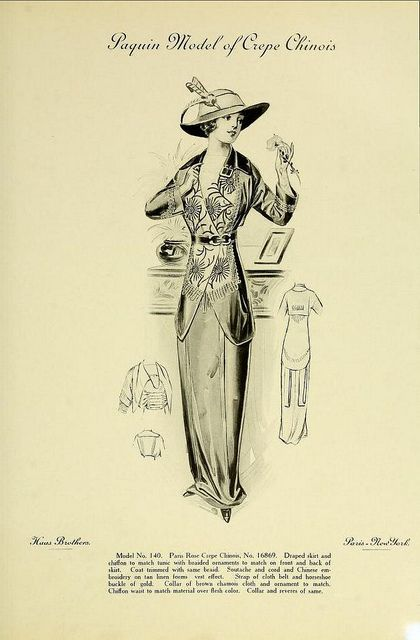 Fashion of 1913 - Paquin Model of Crepe Chinois | Flickr - Photo Sharing!