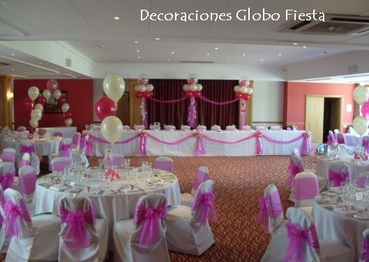 Arreglos para xv a os con globos fiestas party for Decoracion con globos 50 anos