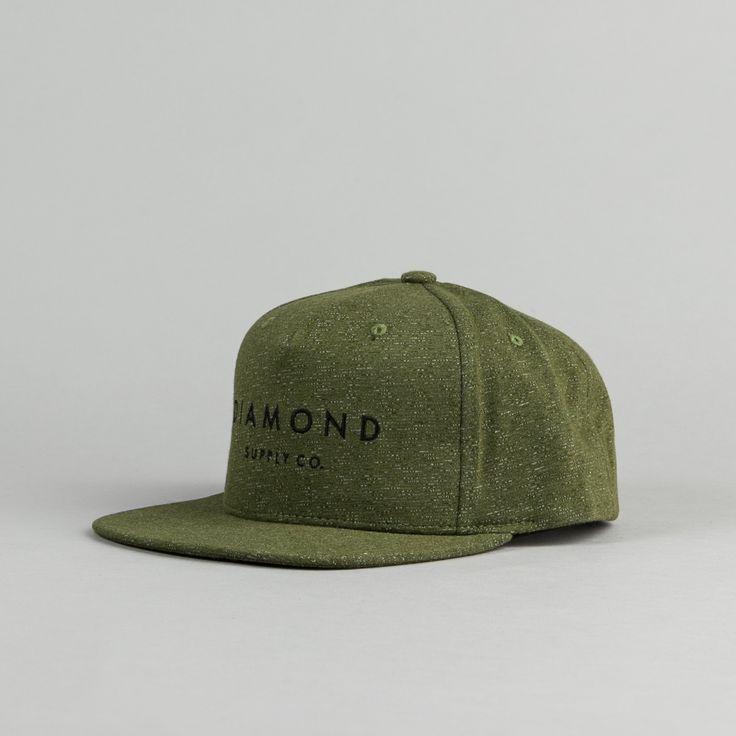 Diamond Snapback Cap - Speckle Olive