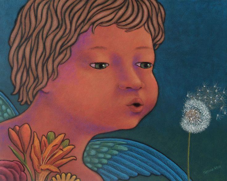 Serie acrílico Angeles protectores: Obra Tarquino Mejía
